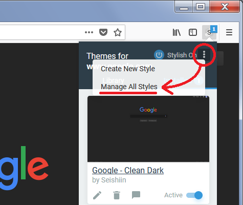 Moving User Styles (Themes) from Stylish 3 x to Stylus